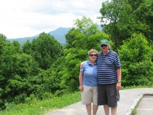 Collette and Tim, in Great Smoky Mountains National Park